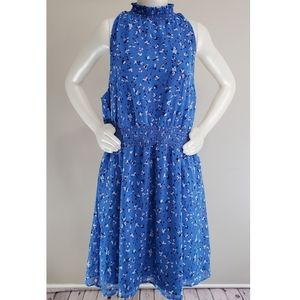 A new day blue floral dress